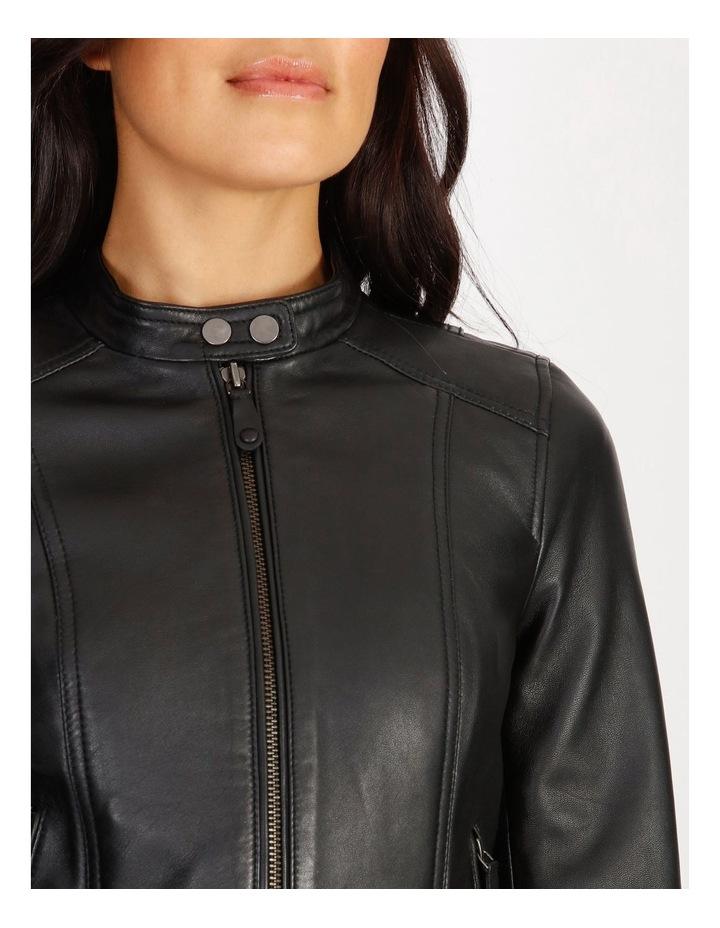 Leather Biker Jacket image 4