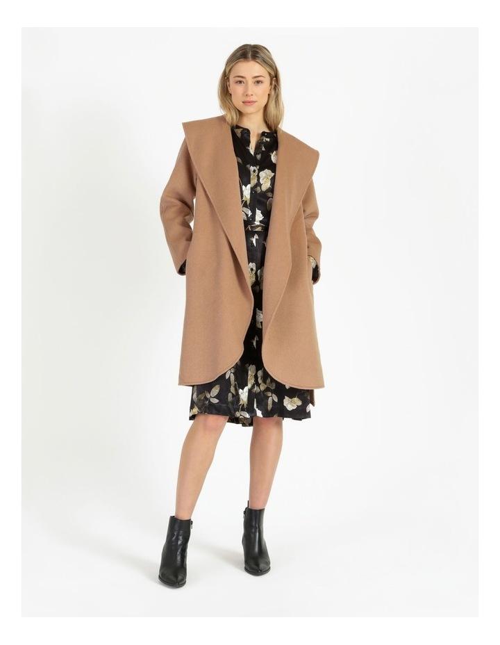 Wrap Shawl Collar Coat image 1