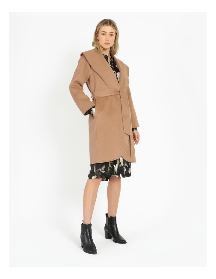 Wrap Shawl Collar Coat image 2