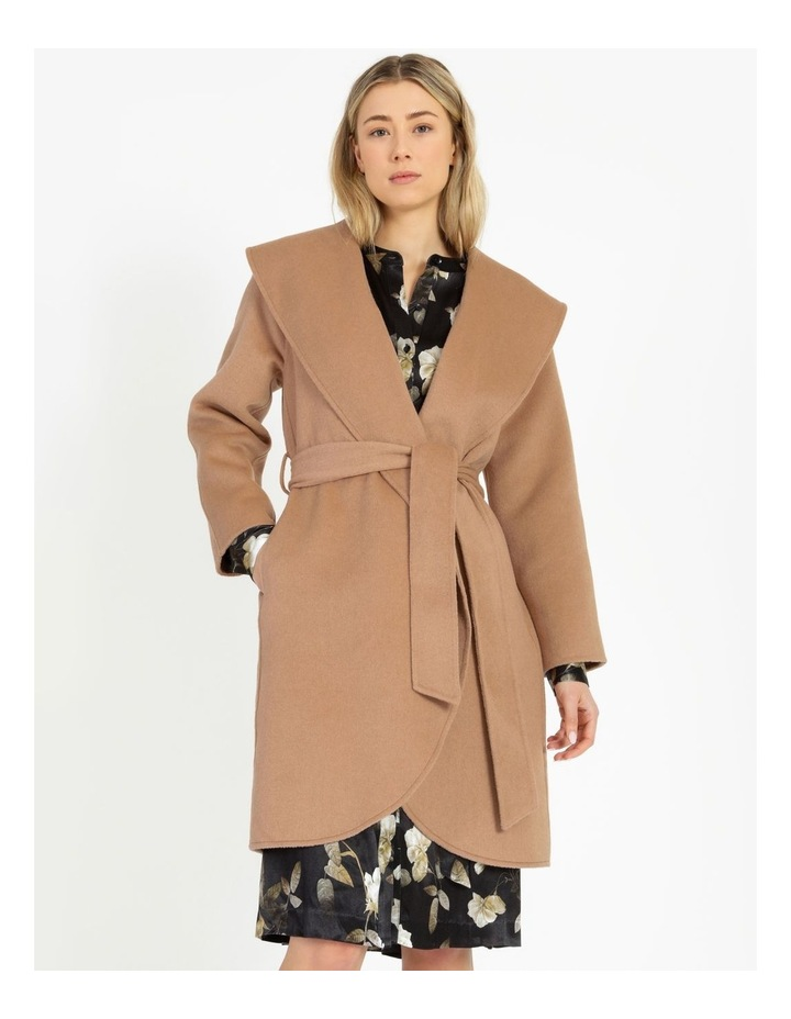 Wrap Shawl Collar Coat image 4