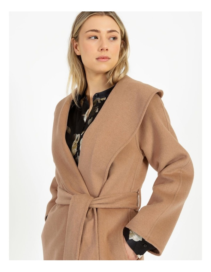 Wrap Shawl Collar Coat image 5