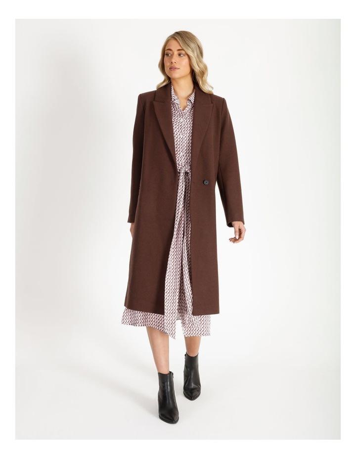 Longline Wool Blend Coat image 1
