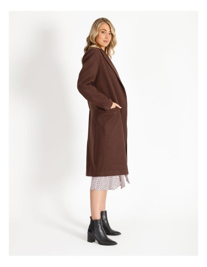 Longline Wool Blend Coat image 2