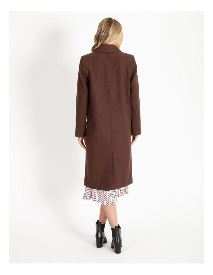 Longline Wool Blend Coat image 3