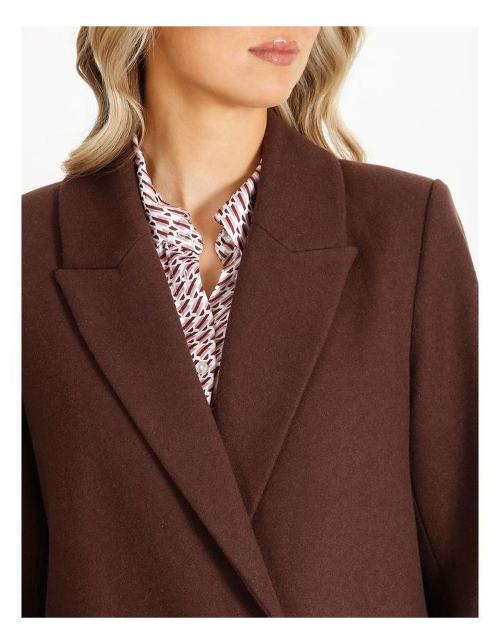 Longline Wool Blend Coat image 4