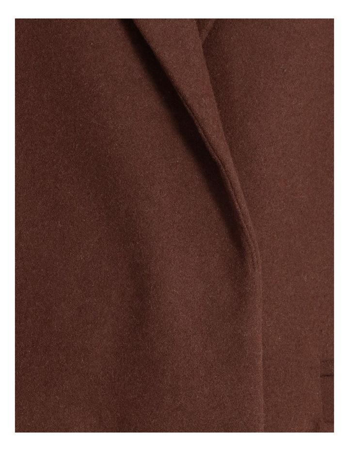 Longline Wool Blend Coat image 5