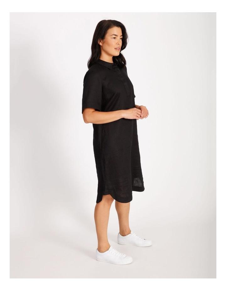 Linen Shirt Dress image 2