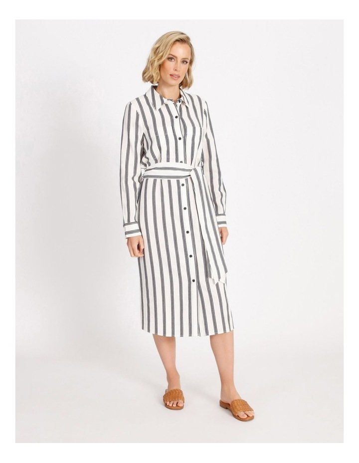 Stripe Shirt Dress image 1