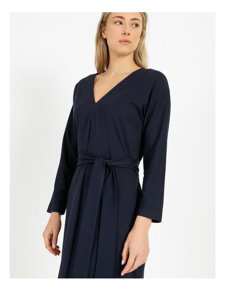 Dolman Sleeve Self Tie Dress image 3