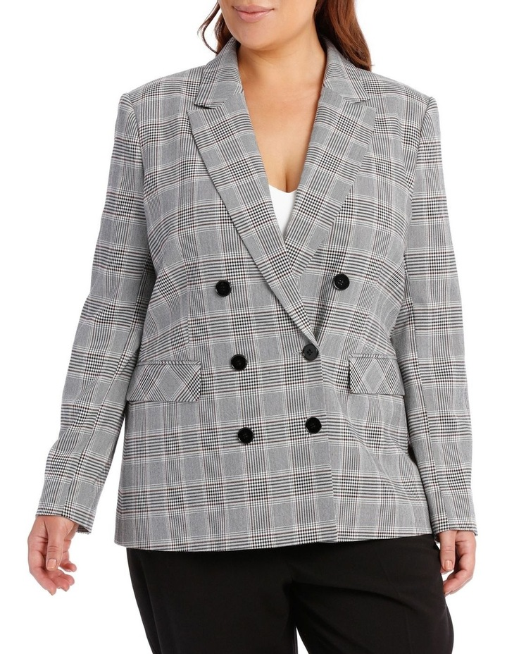 Double Breasted Check Blazer image 1
