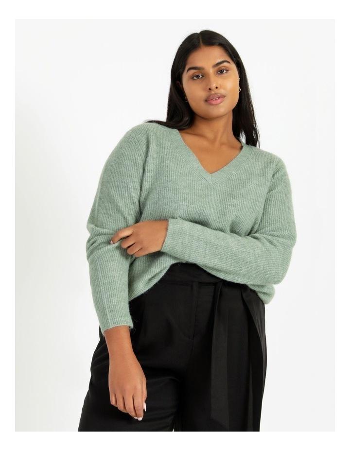 V Neck A Line Knitted Jumper image 1