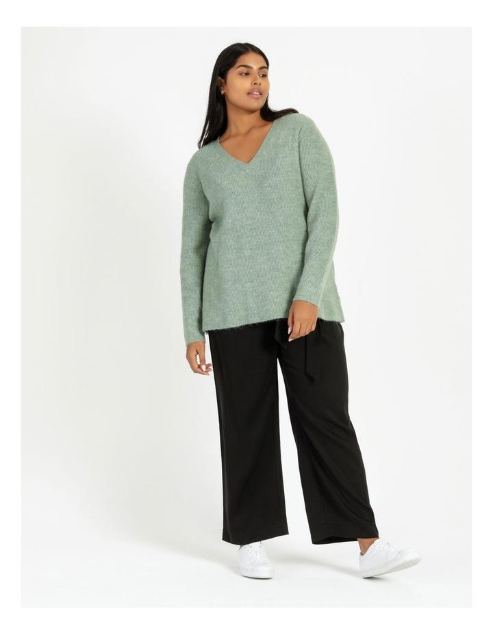 V Neck A Line Knitted Jumper image 2