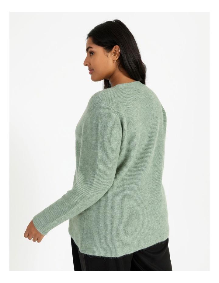 V Neck A Line Knitted Jumper image 3