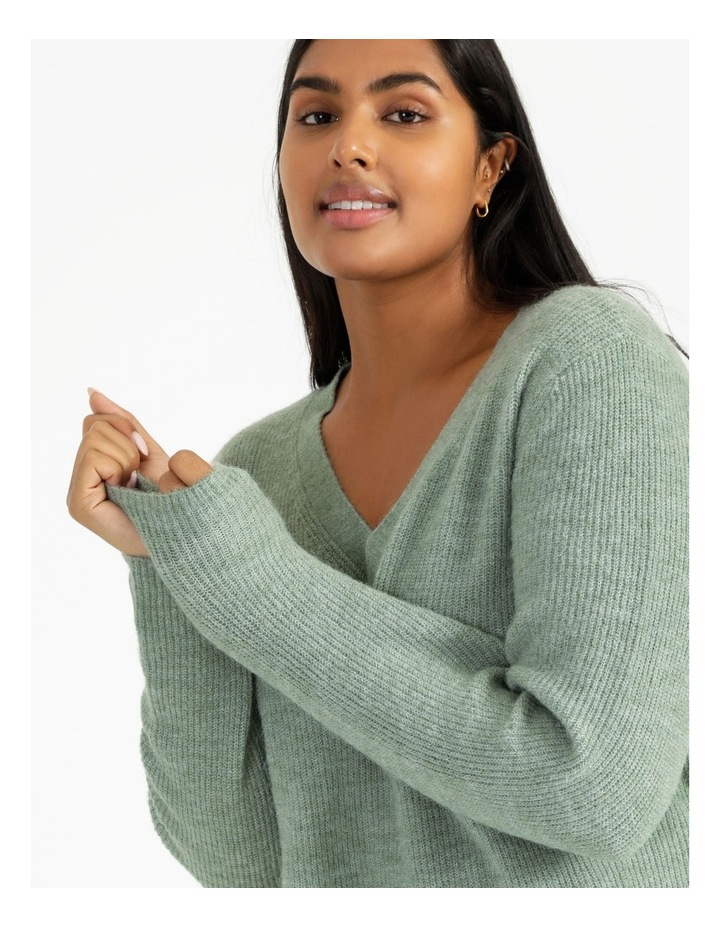 V Neck A Line Knitted Jumper image 4