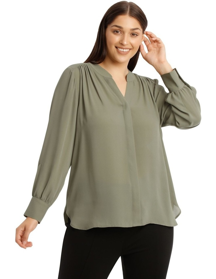 Stitched Shirt Top image 1