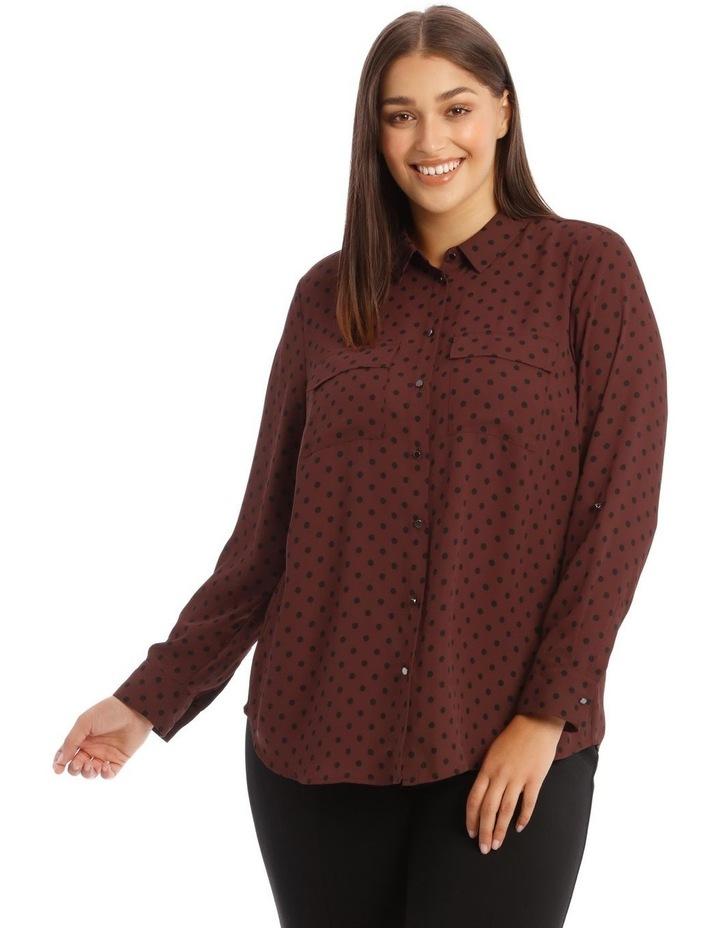 Double Pocket Shirt with Polkadots image 1