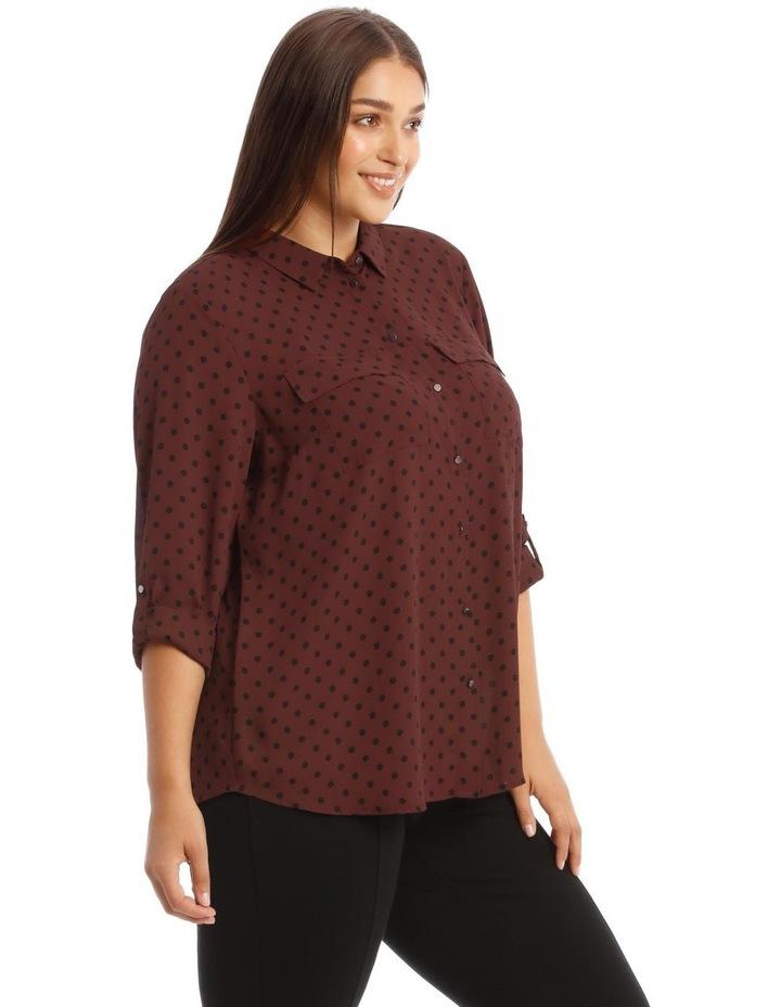 Double Pocket Shirt with Polkadots image 2
