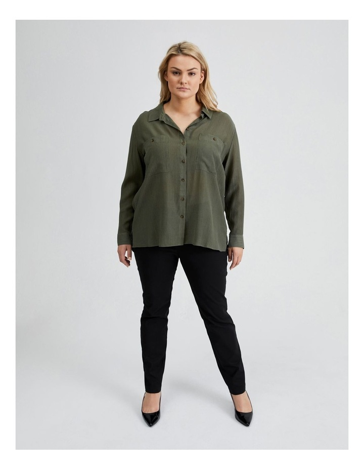 Long Sleeve Textured Utility Shirt image 1