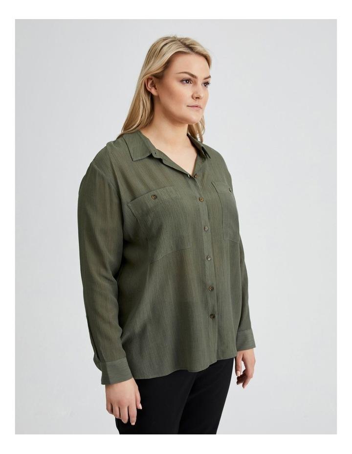 Long Sleeve Textured Utility Shirt image 2