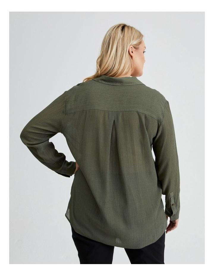 Long Sleeve Textured Utility Shirt image 3