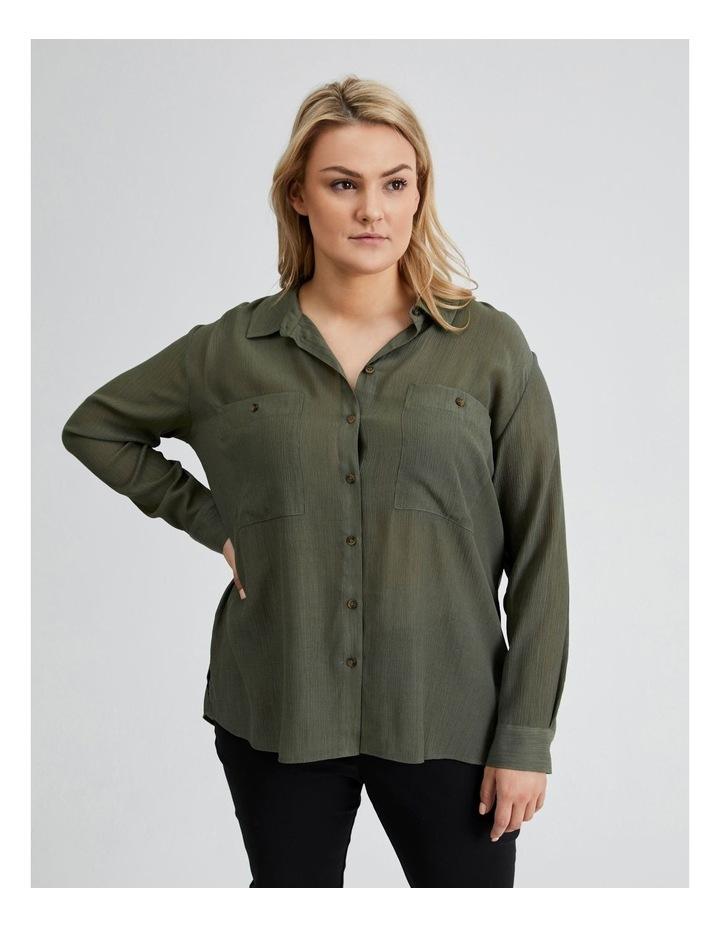 Long Sleeve Textured Utility Shirt image 4