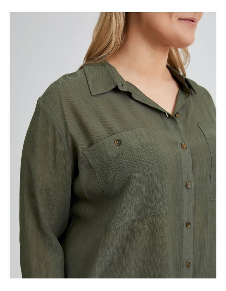 Long Sleeve Textured Utility Shirt image 5