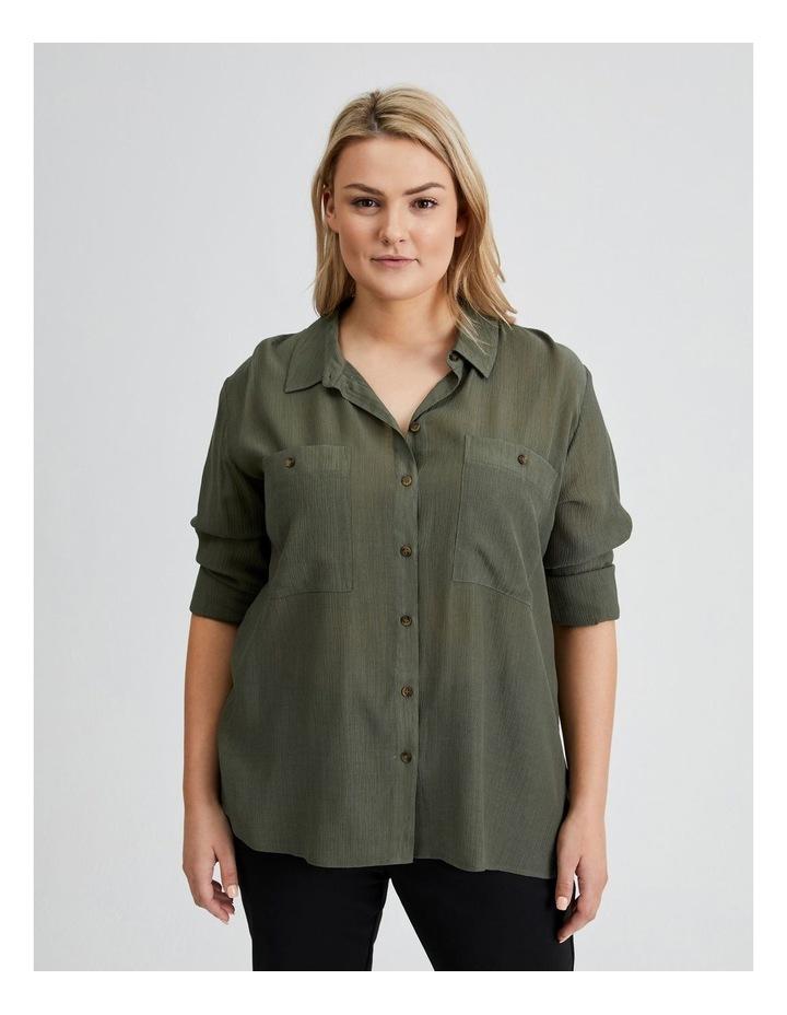 Long Sleeve Textured Utility Shirt image 6