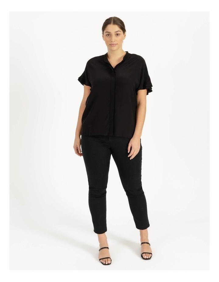 Frill Sleeve Shirt Black image 3