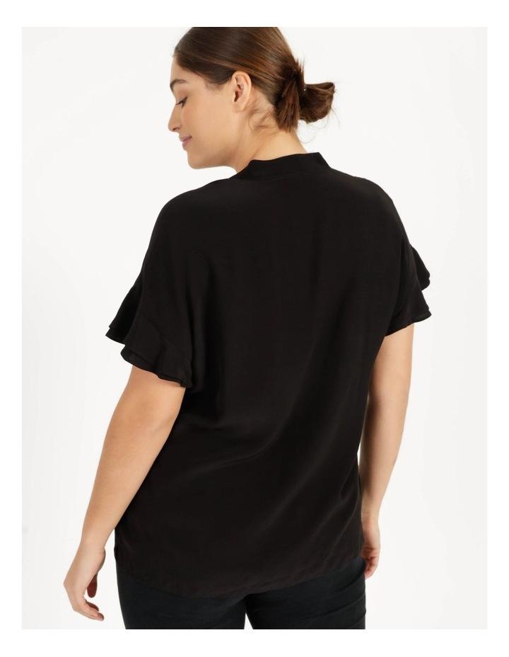 Frill Sleeve Shirt Black image 5