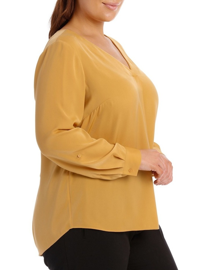 V-Neck Tab Sleeve Top image 2