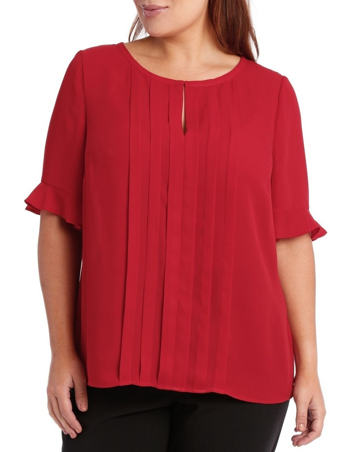 Tuck Front Short Sleeve Top image 1