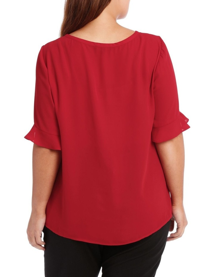 Tuck Front Short Sleeve Top image 3