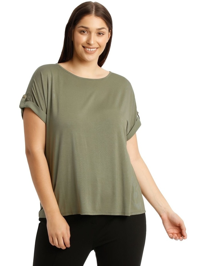 Jersey Button Sleeve Tee image 1