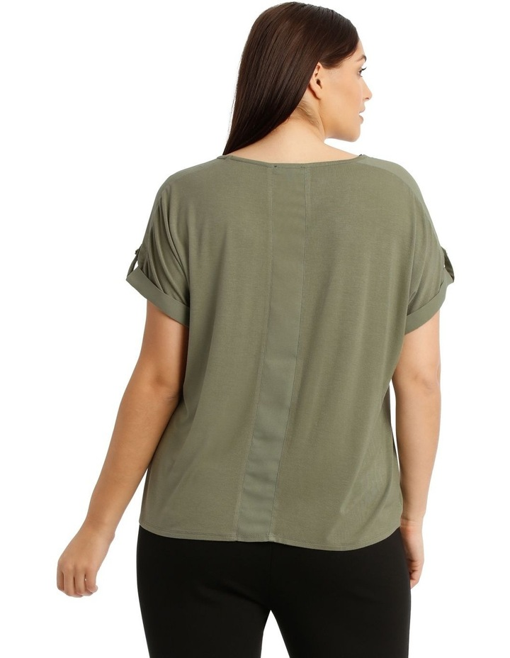 Jersey Button Sleeve Tee image 3