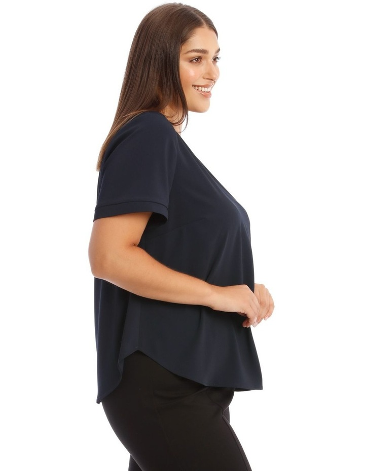 Short Sleeve Top in Midnight Blue image 2