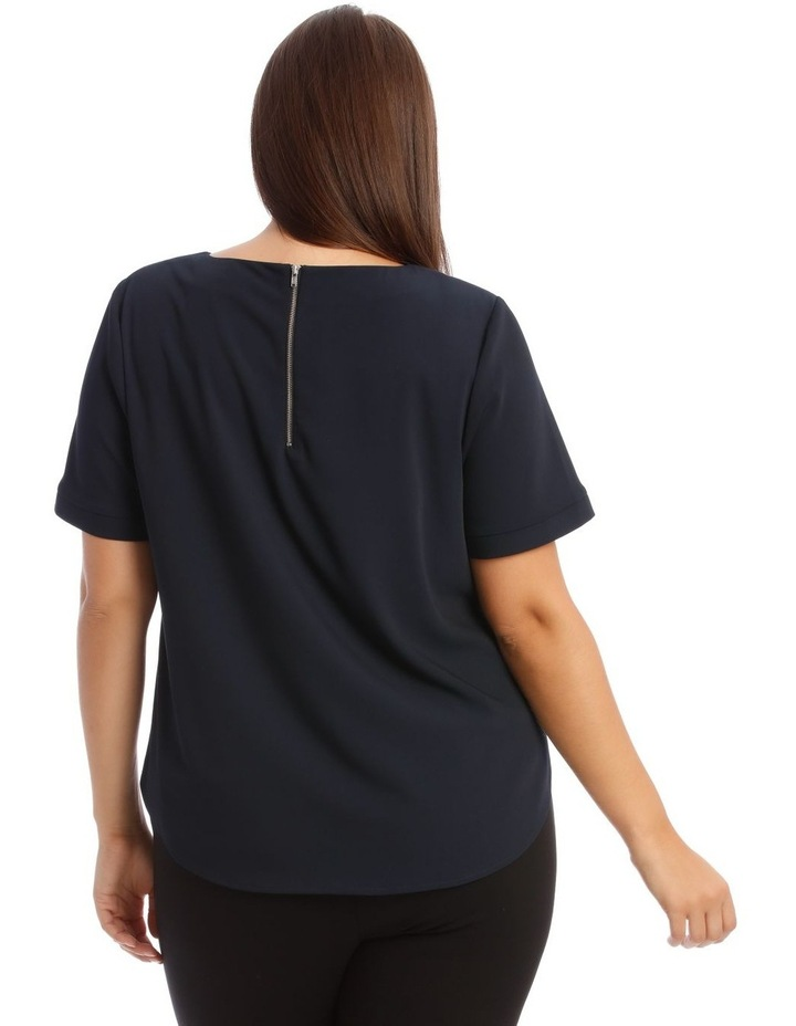 Short Sleeve Top in Midnight Blue image 3