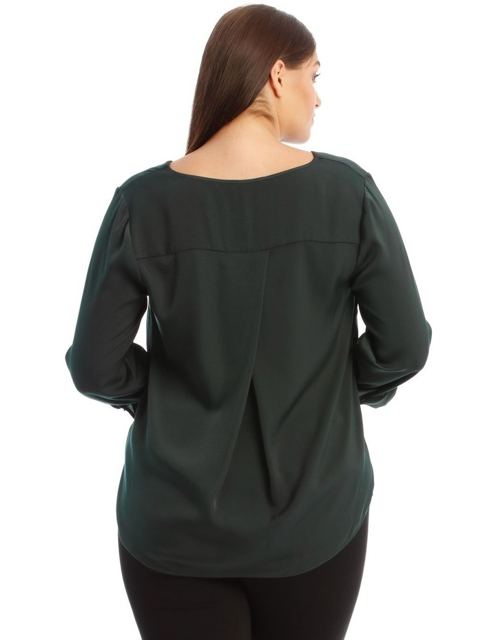 V-Neck Top with Tab Sleeves image 3