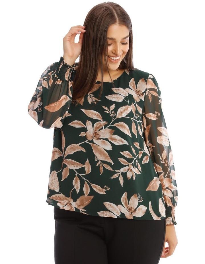 Sheer Long-Sleeve Blouse image 1