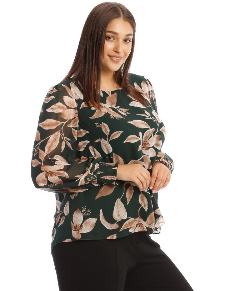 Sheer Long-Sleeve Blouse image 2