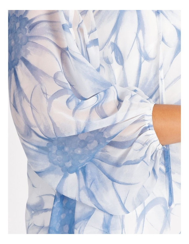 Sheer Balloon Sleeve Top image 5