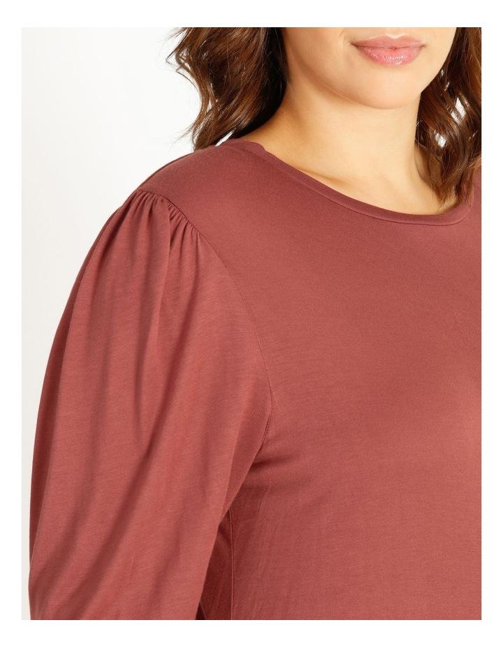 Draped Long Sleeve Jersey Top image 4