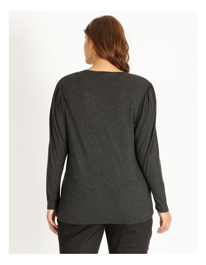 Draped Long Sleeve Jersey Top image 3