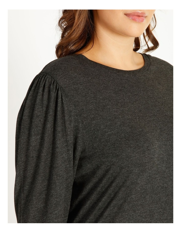 Draped Long Sleeve Jersey Top image 4
