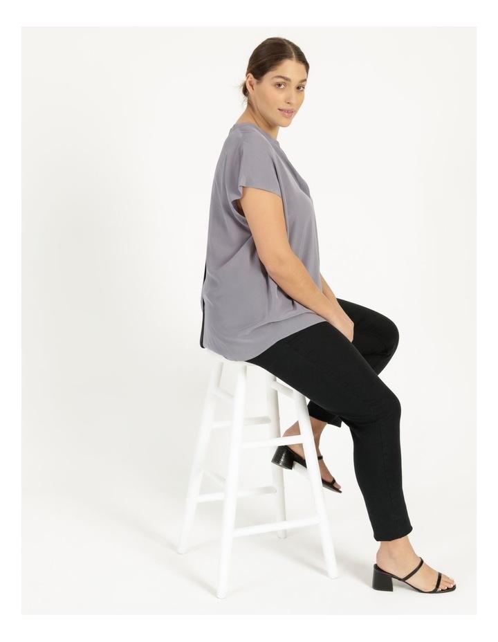 Grown On Boxy V-Neck Blouse Grey image 3