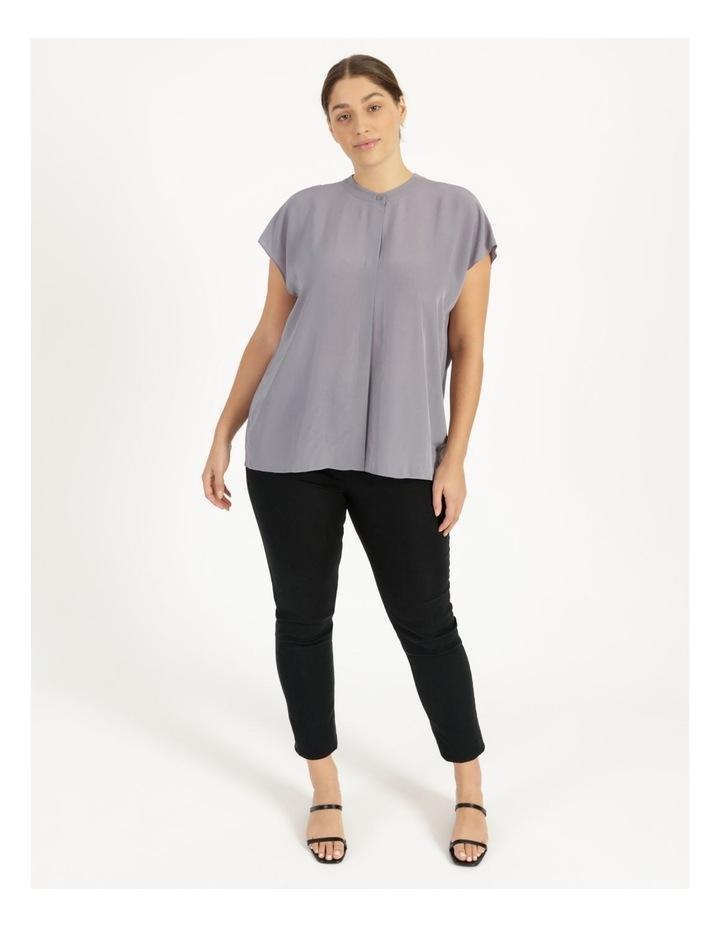 Grown On Boxy V-Neck Blouse Grey image 4