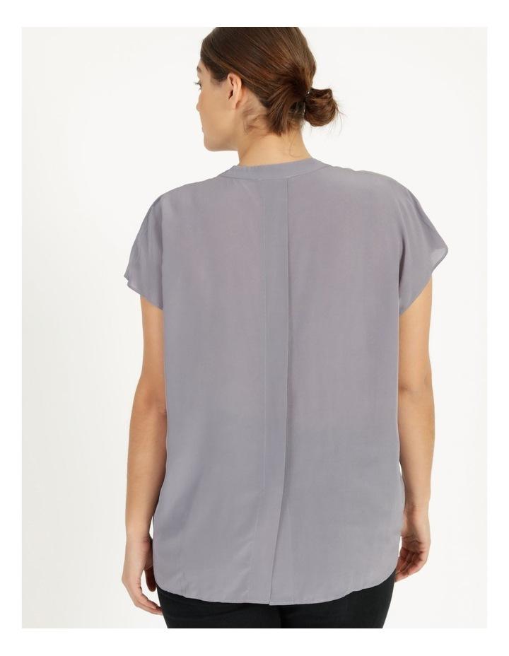 Grown On Boxy V-Neck Blouse Grey image 5