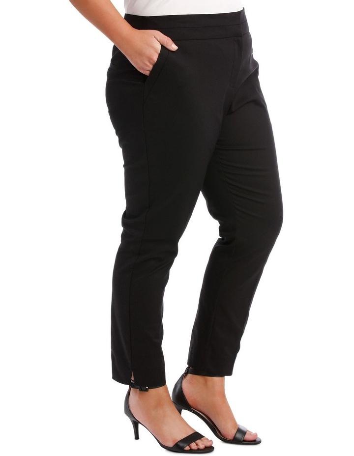 Cotton Sateen Ankle Grazer Pant image 3