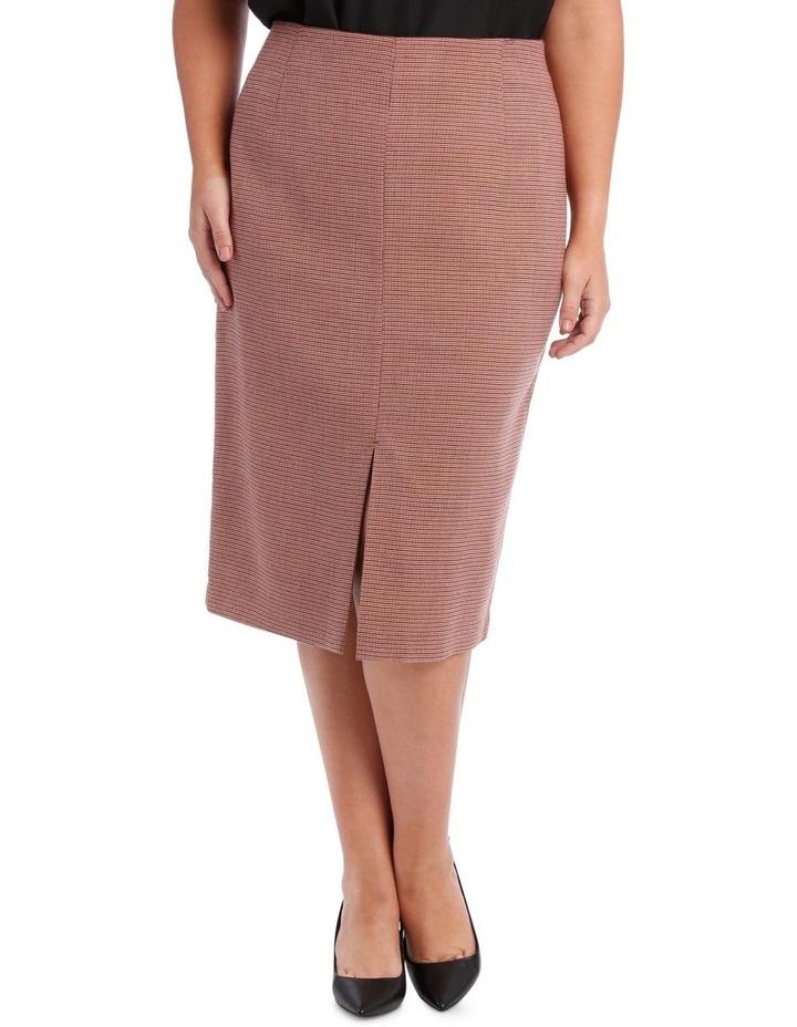 Small Check Split Front Skirt image 1