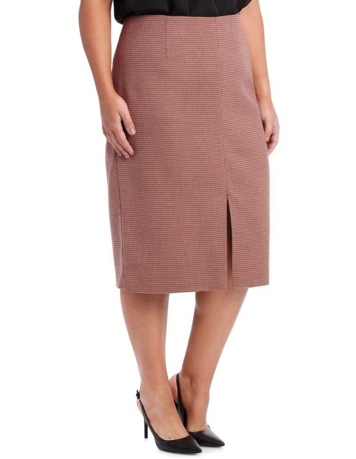 Small Check Split Front Skirt image 2