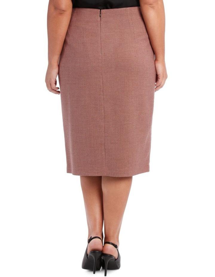 Small Check Split Front Skirt image 3